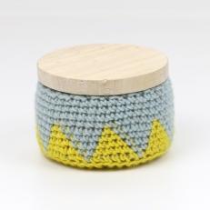 boite bleu et jaune